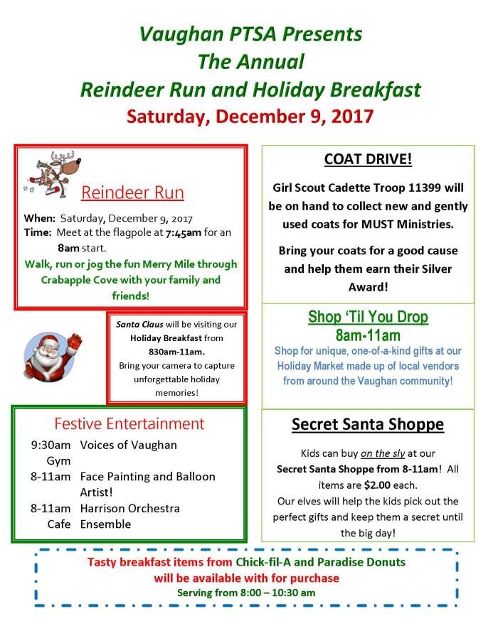 Holiday Breakfast Flyer 2017