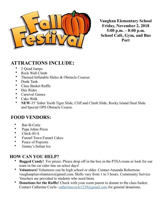 Fall Festival Flyer 1