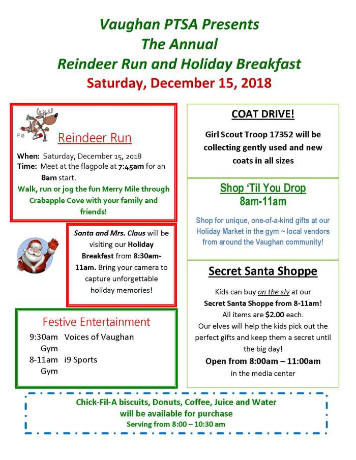 Holiday Breakfast Flyer 2018