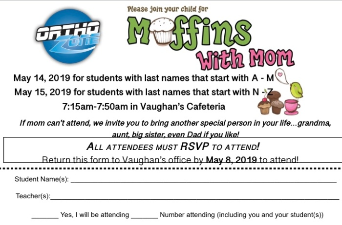 Muffins with Mom flyer